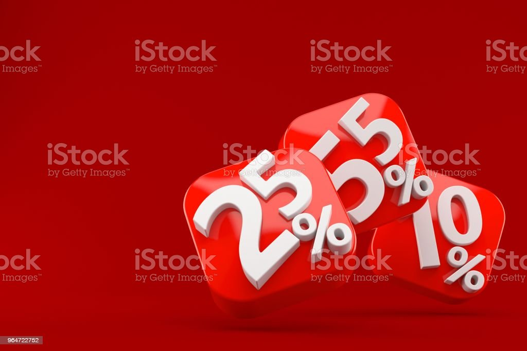 Numbers with percent symbols royalty-free stock photo
