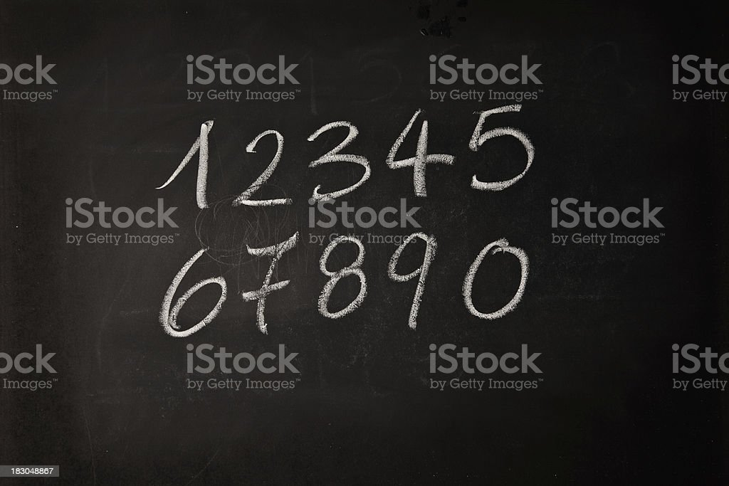 Numbers Written On A Blackboard royalty-free stock photo