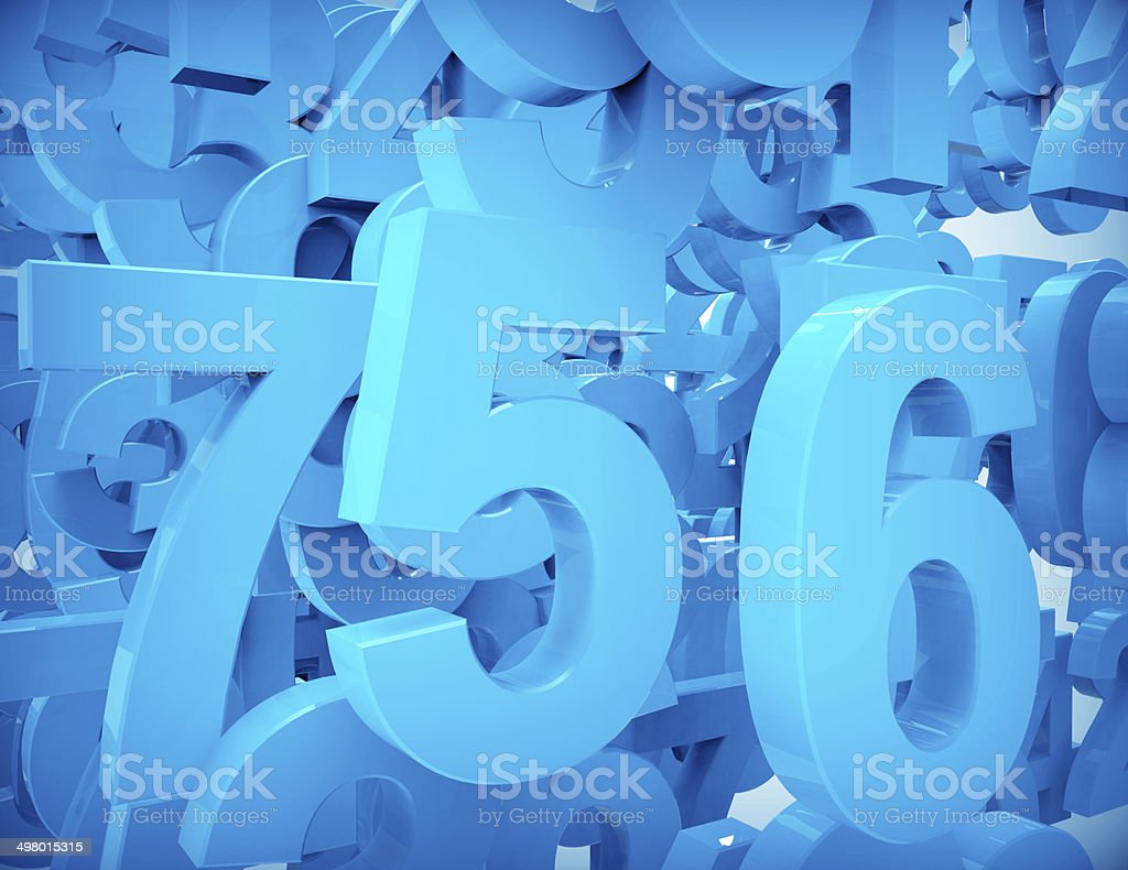 Numbers-background royalty-free stock photo