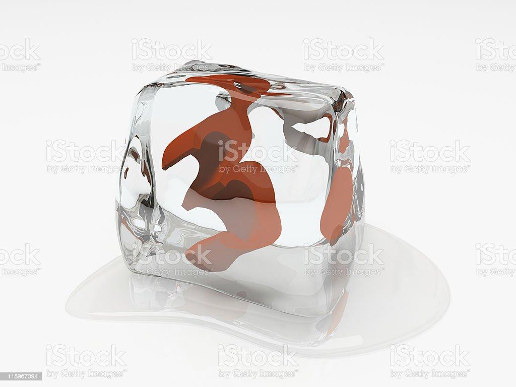 Numeral Tres N Cubo De Gelo 3d De Desenho Fotografias De Stock E