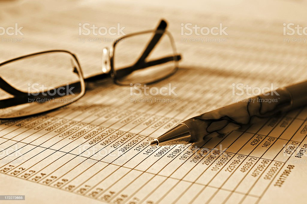 numerals and finance royalty-free stock photo
