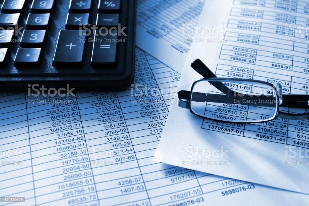Ziffern und Finanzen Lizenzfreies stock-foto
