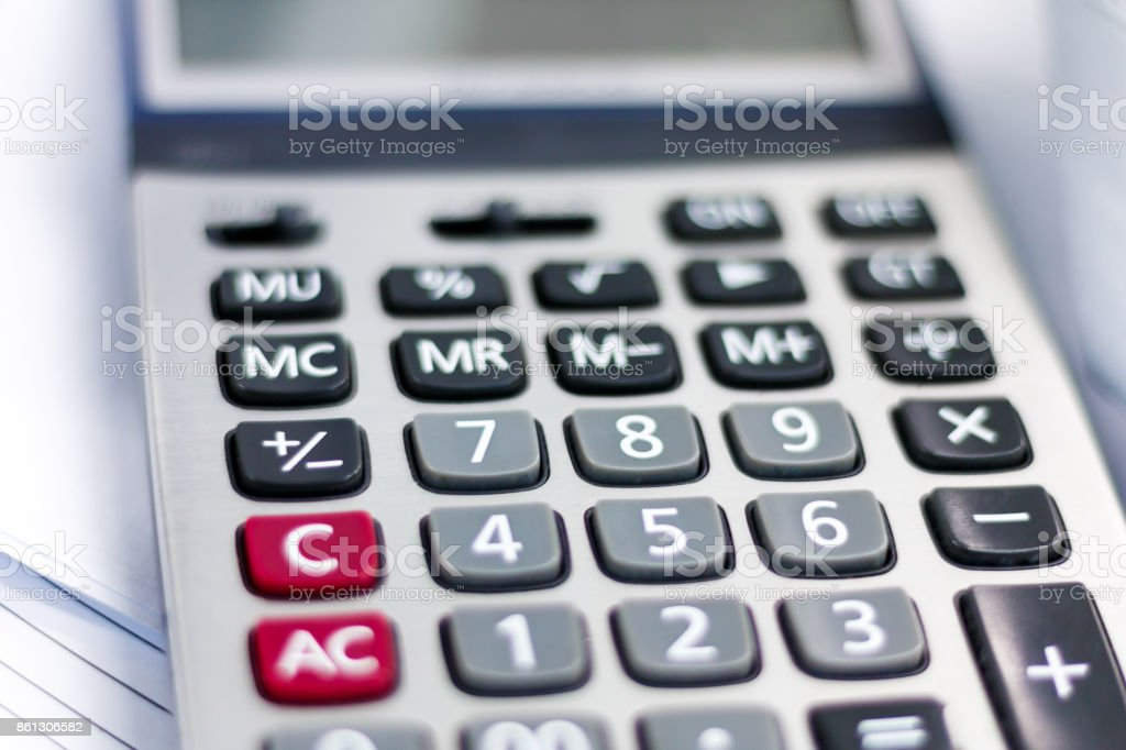Numerals and finance stock photo