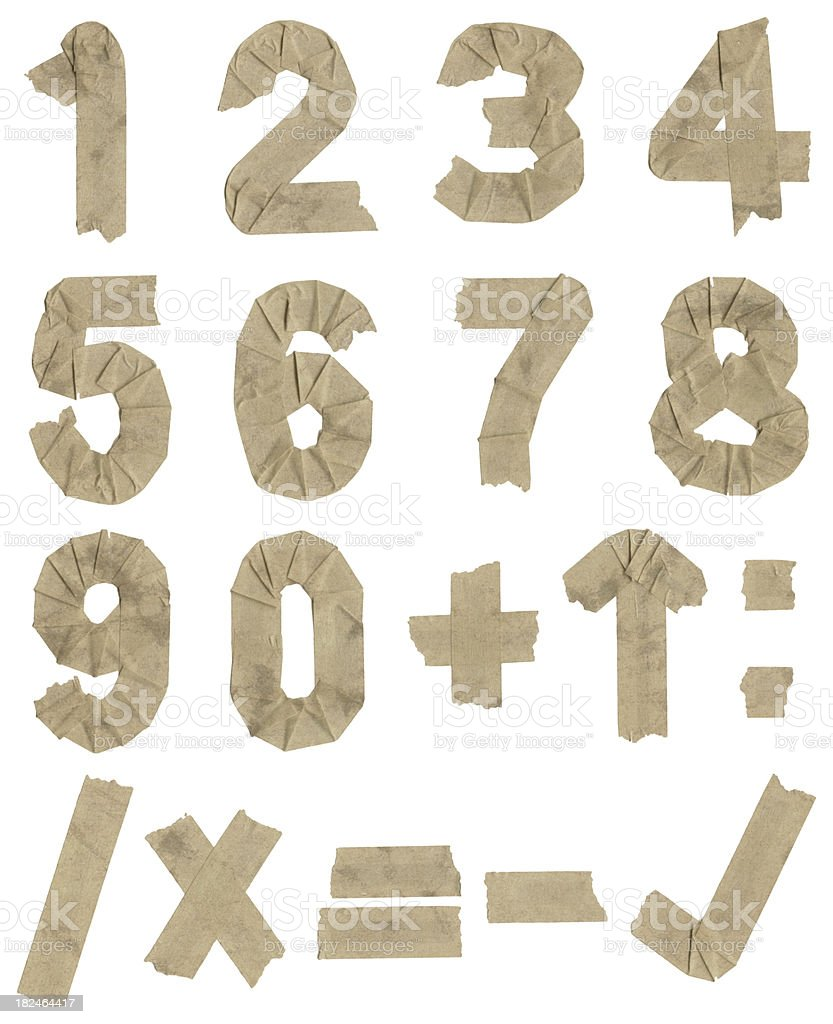 numerary from adhesive foil stock photo