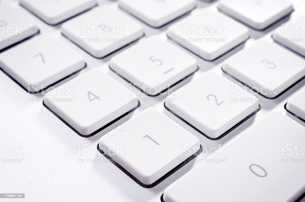 Numeric keyboard royalty-free stock photo