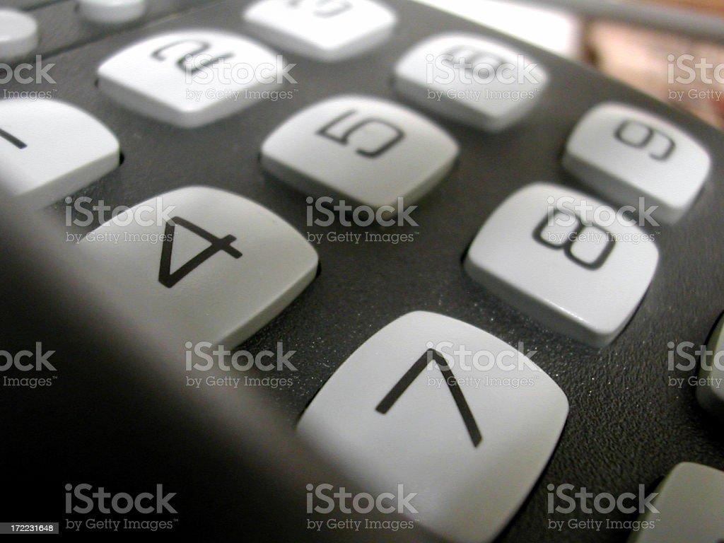 numeric pad stock photo