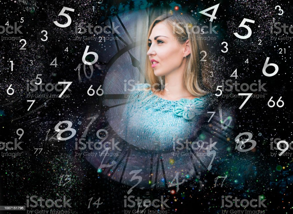 Numerology and life stock photo