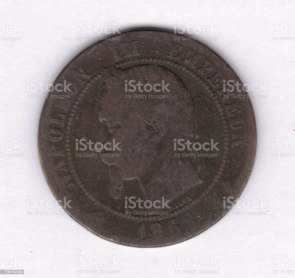 Numismatic Coin: 1862 France 10 Centimes (67112) royalty-free stock photo