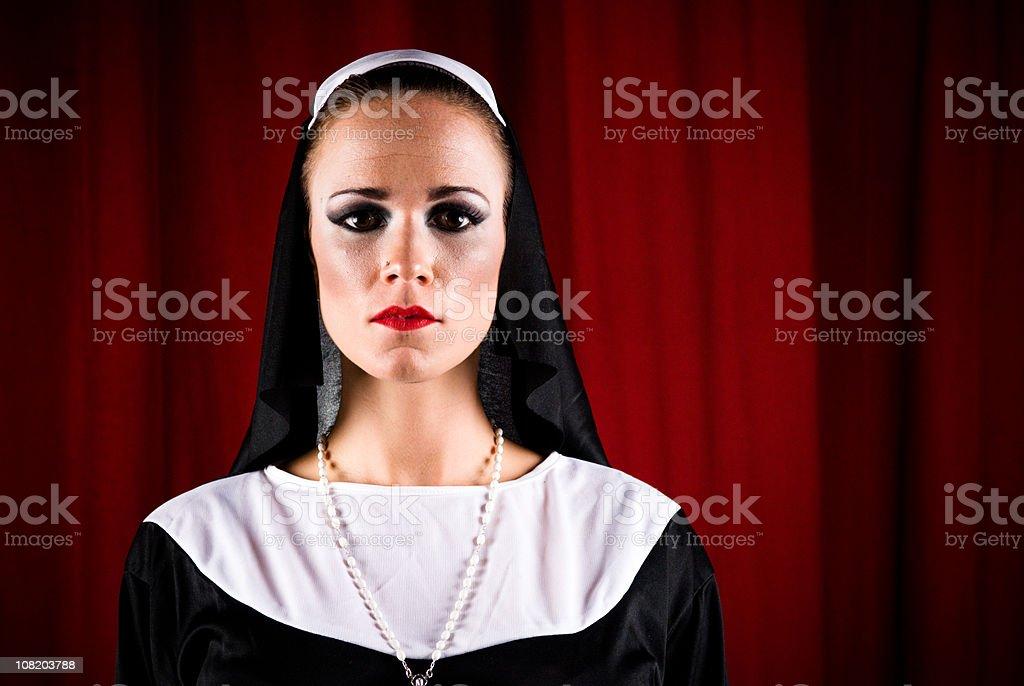 Nun royalty-free stock photo