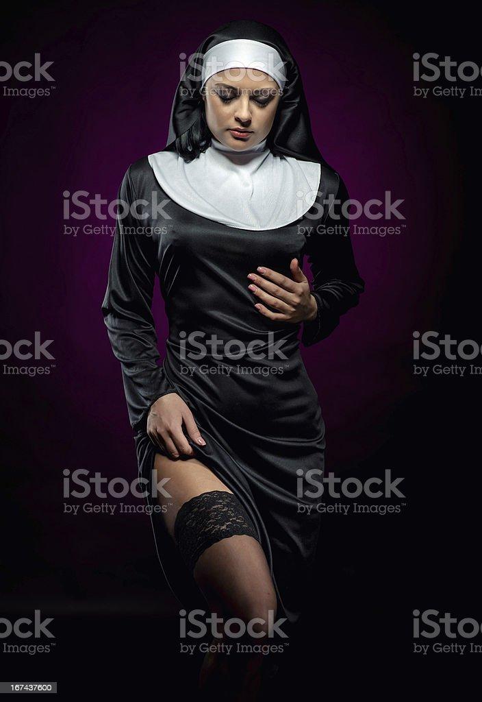 Nun stock photo