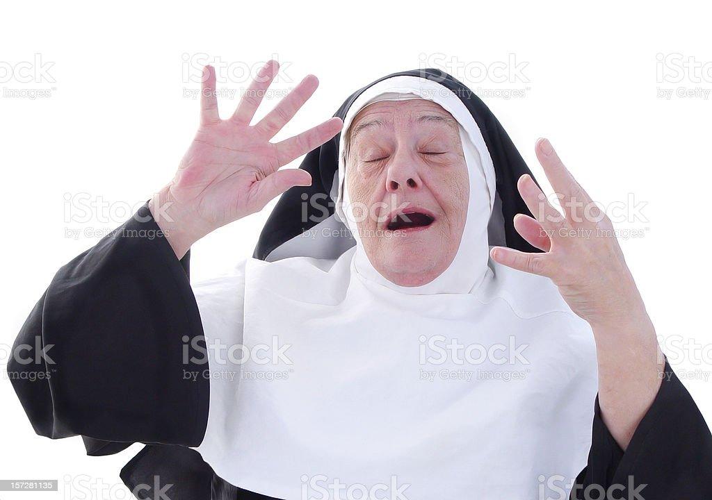 nun series - choir practice royalty-free stock photo