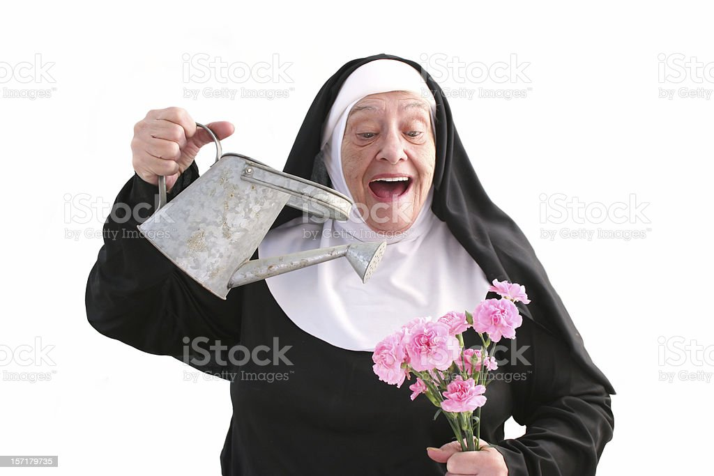 Nun Series flower garden royalty-free stock photo