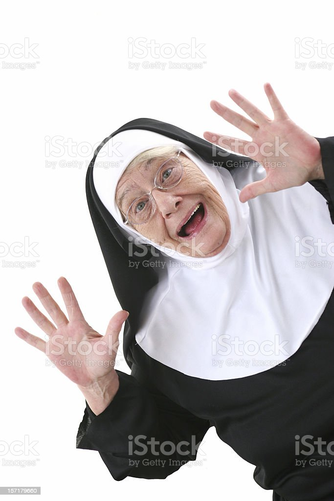 Nun Series : surprise royalty-free stock photo