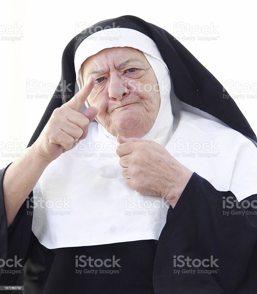 Nun Series - the lecture stock photo