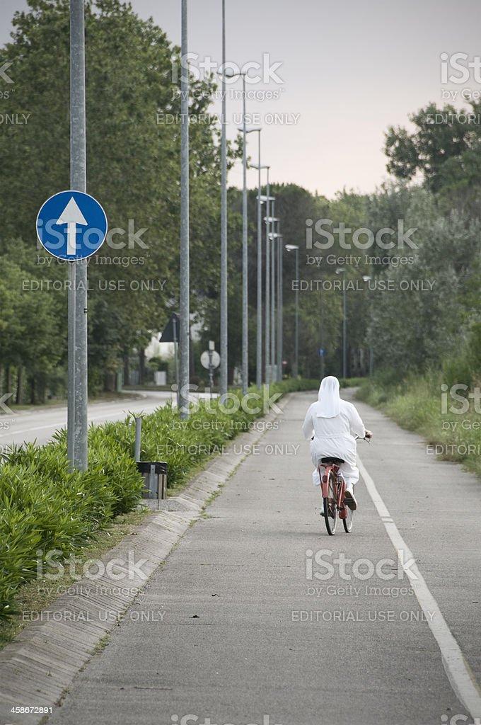 Nun way royalty-free stock photo