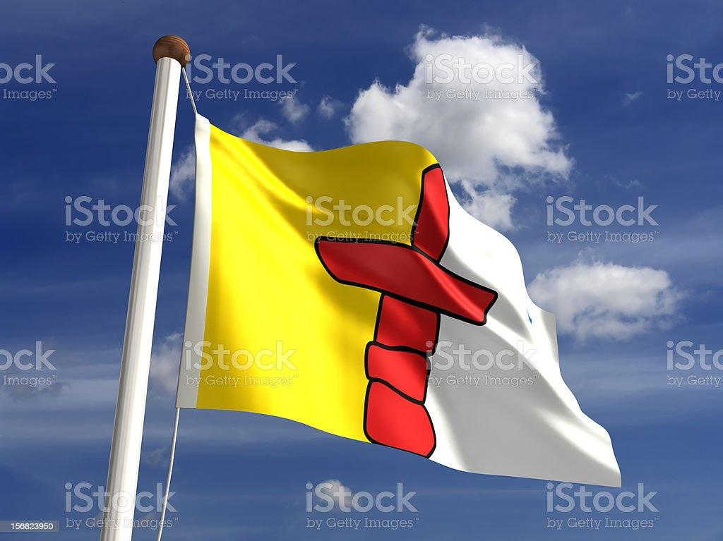 Nunavut flag Canada stock photo