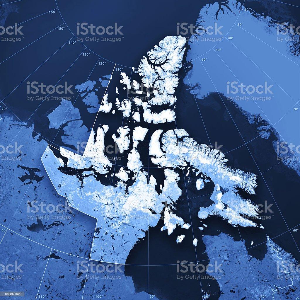 Nunavut Topographic Map stock photo