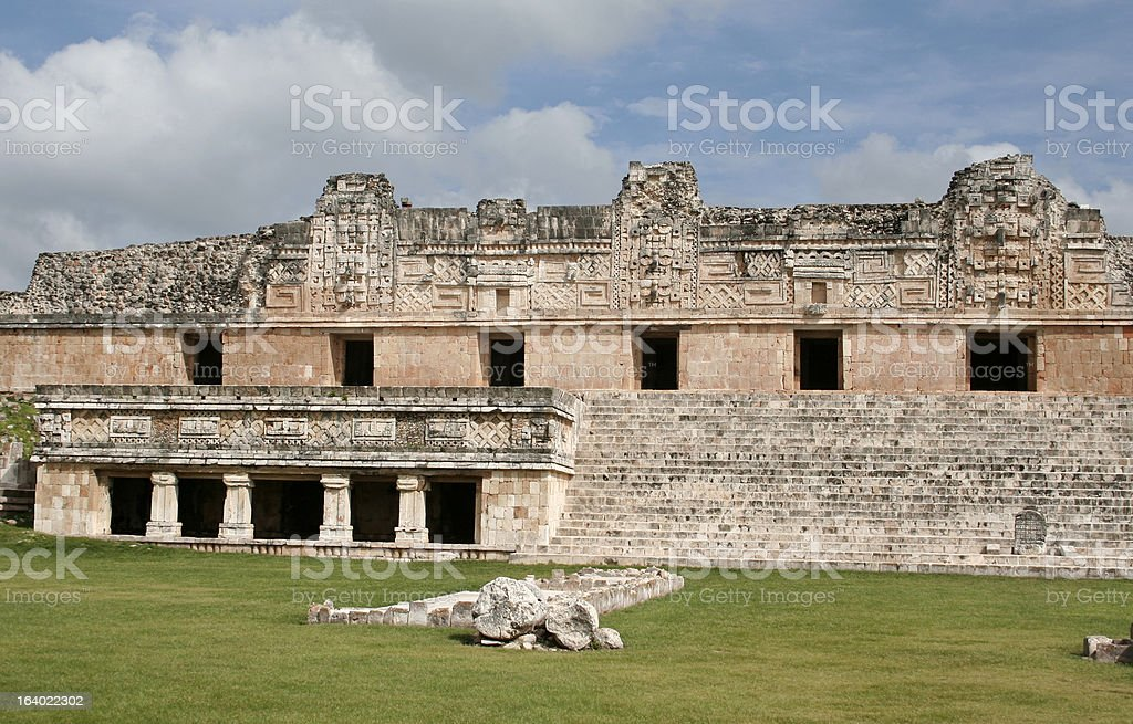 Nunnery Quadrangle in Uxmal stock photo