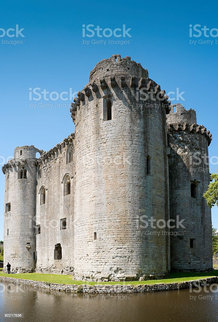 Nunney Castle, Frome, Somerset stock photo