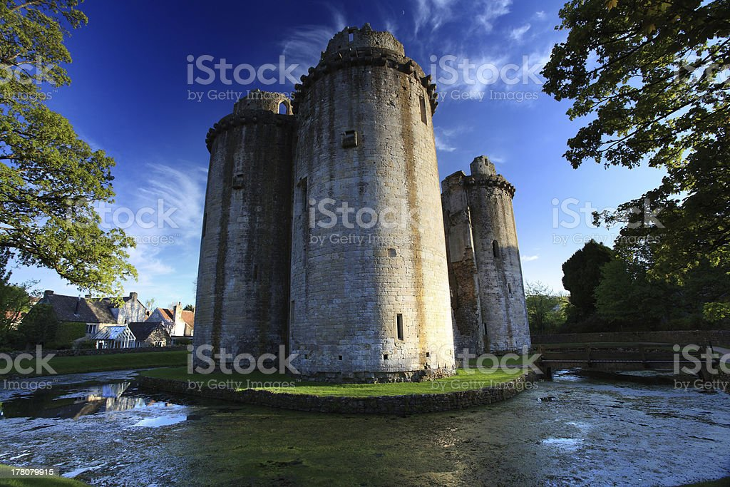 Nunney Castle Somerset stock photo