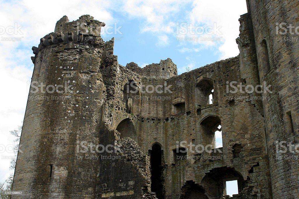 Nunney Castle, South West England stock photo
