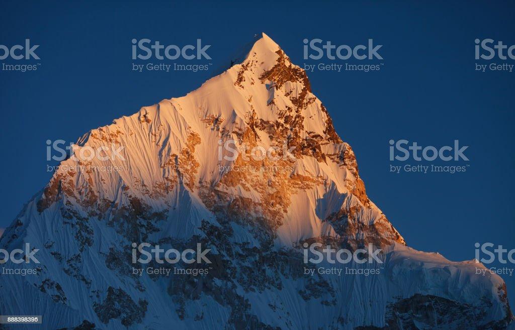 Nuptse mountain stock photo