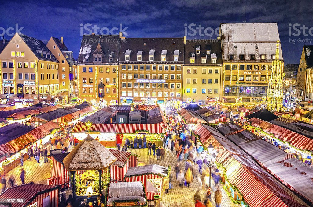 Nuremberg Christmas Market - Christkindlesmarkt Nürnberg stock photo