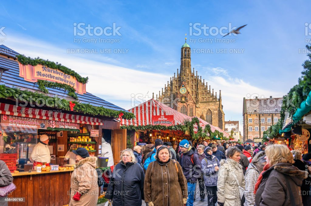 Nuremberg Christmas Market (Nürnberg Christkindlesmarkt) stock photo