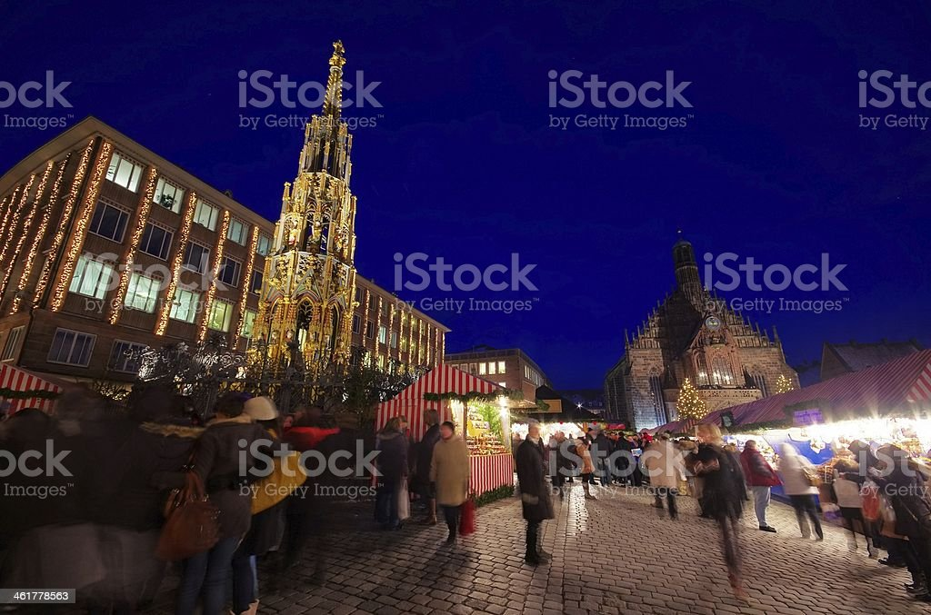 Nuremberg christmas market stock photo