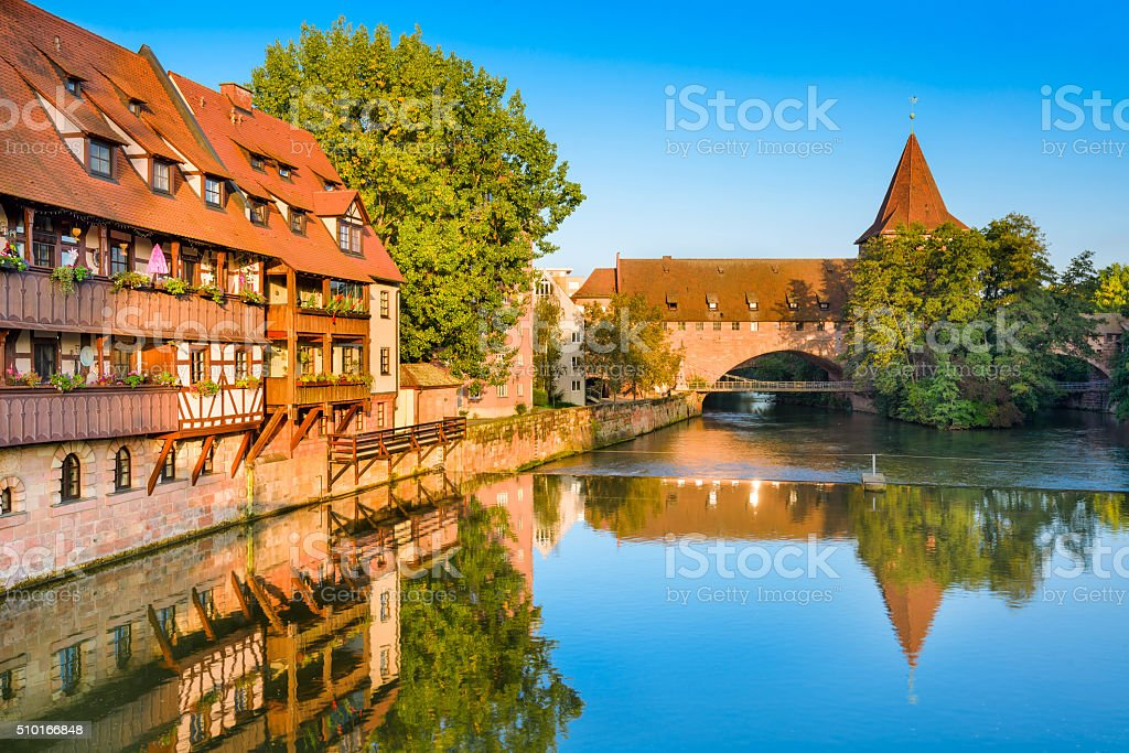 Nuremberg Germany River stock photo