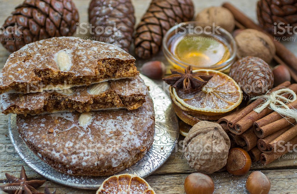 Nuremberg gingerbread is a traditional Christmas treat stock photo