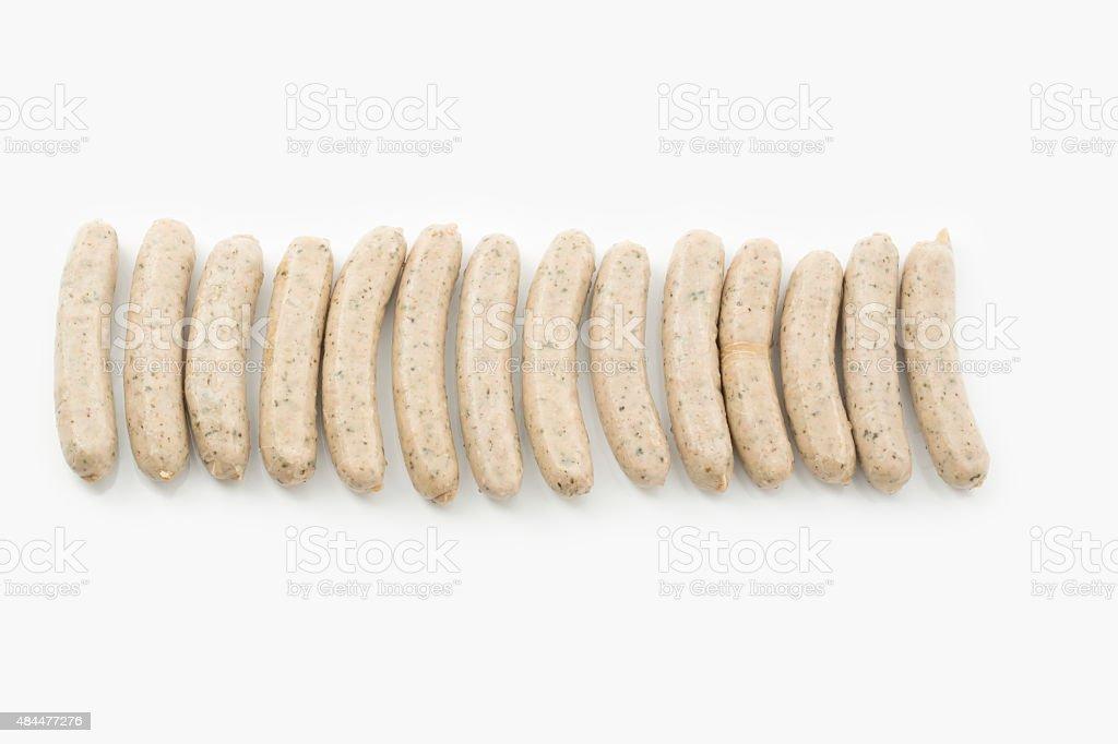 Nuremberg grilled sausages stock photo