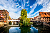 istock Nuremberg, Hangman's Bridge over the Pegnitz River. Franconia, Germany 1215895109