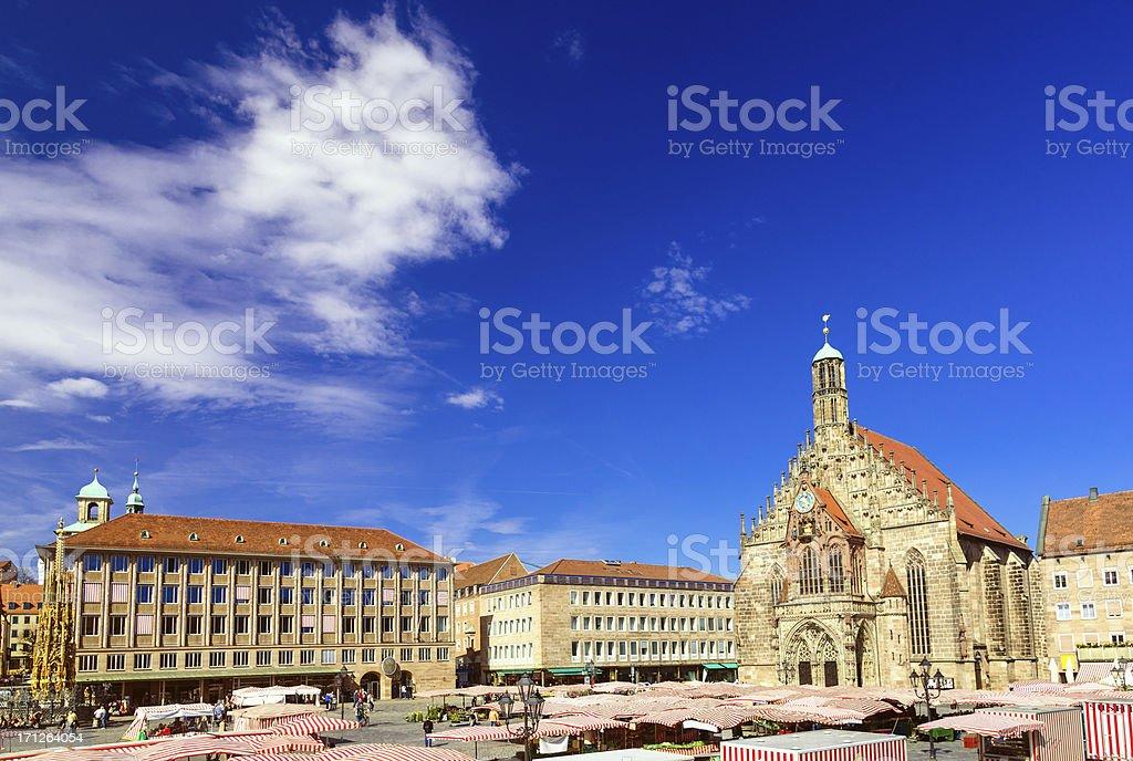 Nuremberg (Nürnberg) Hauptmarkt stock photo