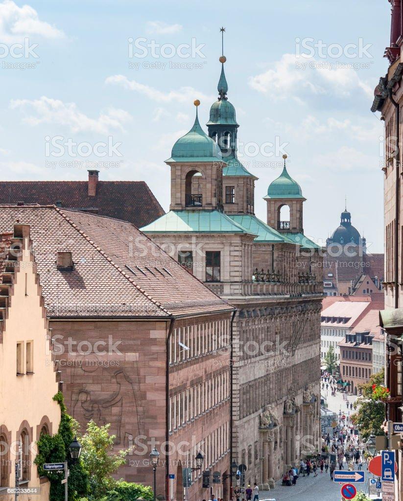 Nuremberg in Bavaria stock photo