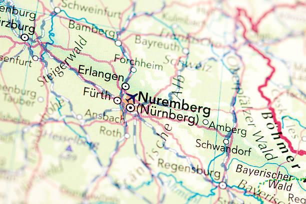 Nurnberg, Nuremberg Map of Nurnberg, Nuremberg erlangen stock pictures, royalty-free photos & images