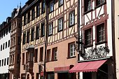 Nuremberg, Germany - traditional half timbered house architecture.