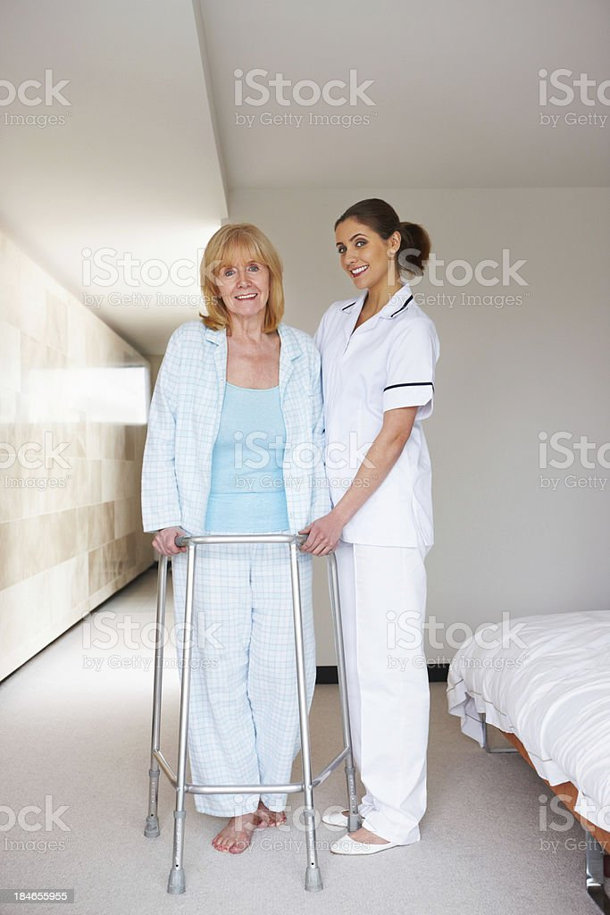 Nurse and Her Elderly Patient royalty-free stock photo