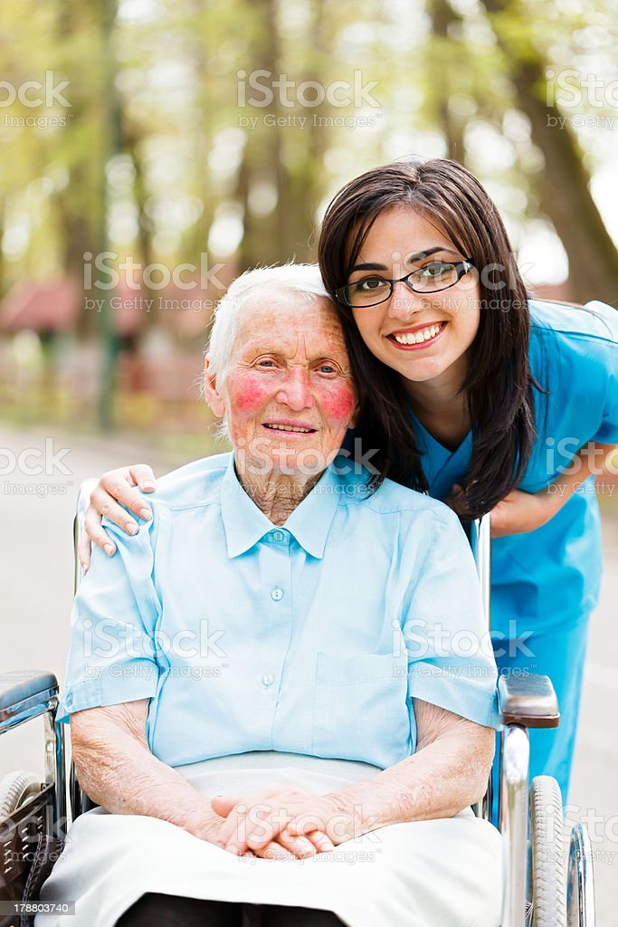Nurse and Patient royalty-free stock photo