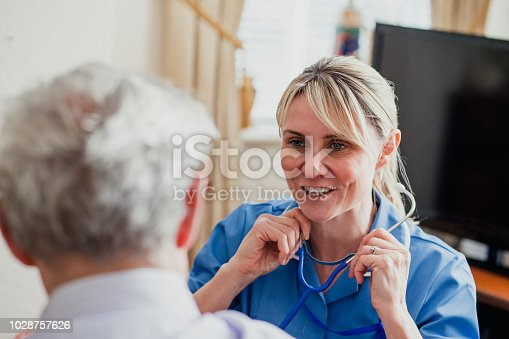 istock Nurse Checking her Patient's Pulse 1028757626