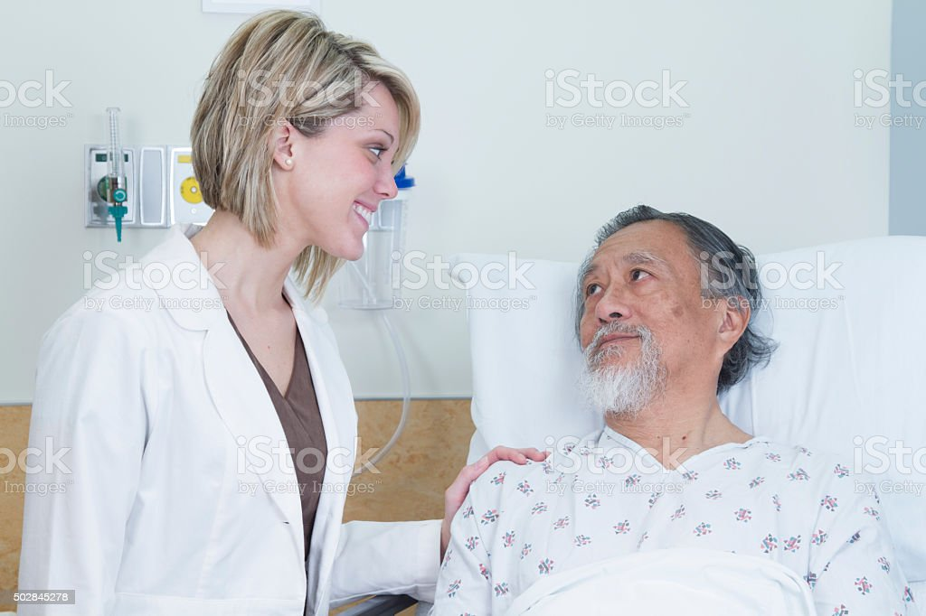 Nurse Comforting Patient royalty-free stock photo