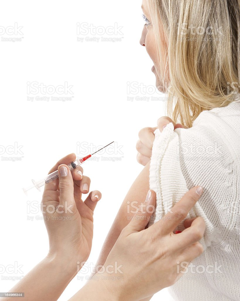 Nurse Giving Patient an Injection royalty-free stock photo