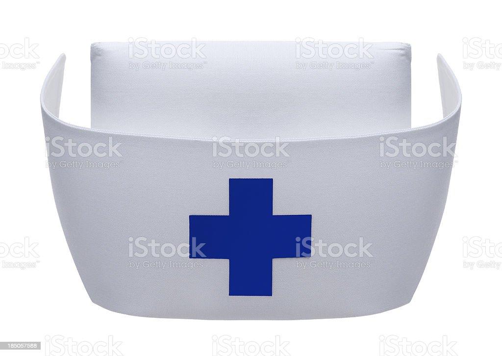 Nurse Hat on White royalty-free stock photo