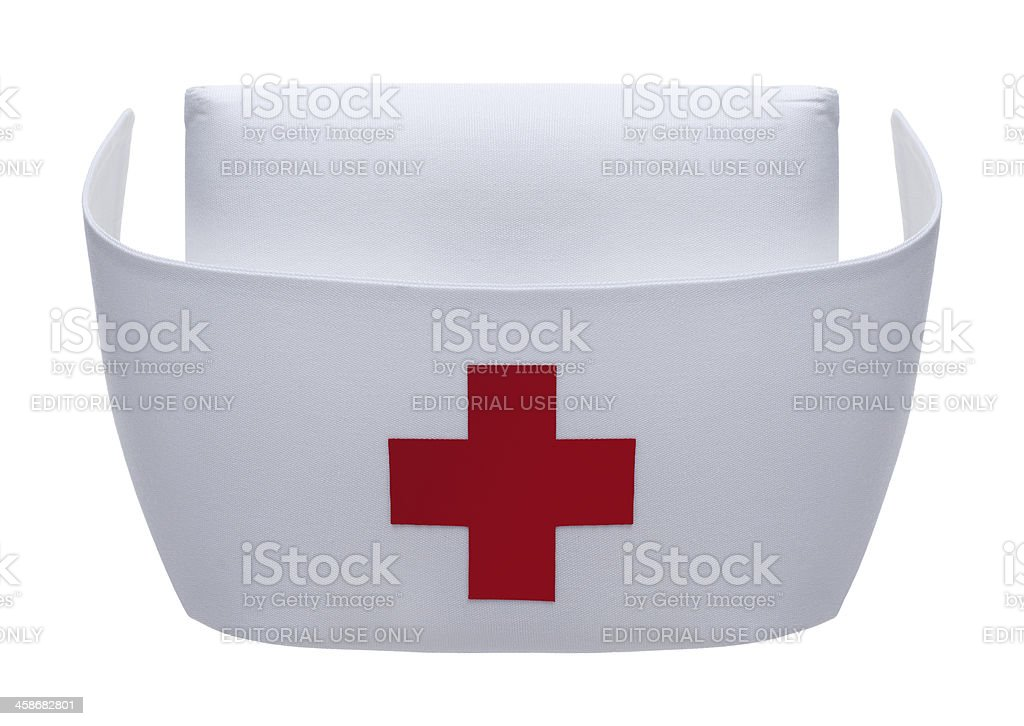 Nurse Hat on White stock photo