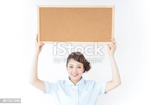 nurse having a board
