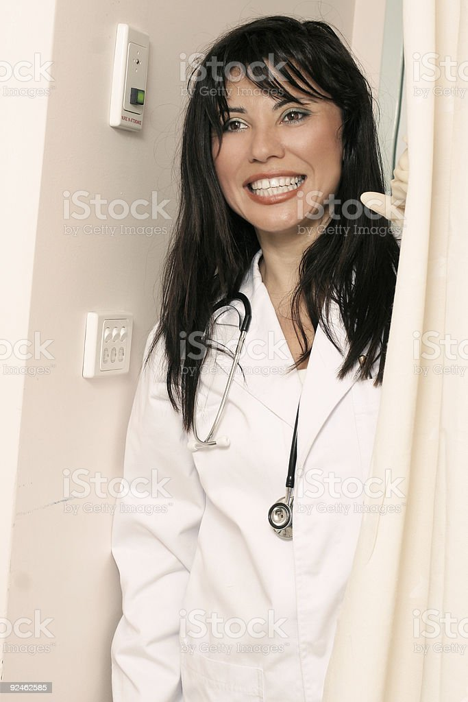 Nurse in attendance royalty-free stock photo