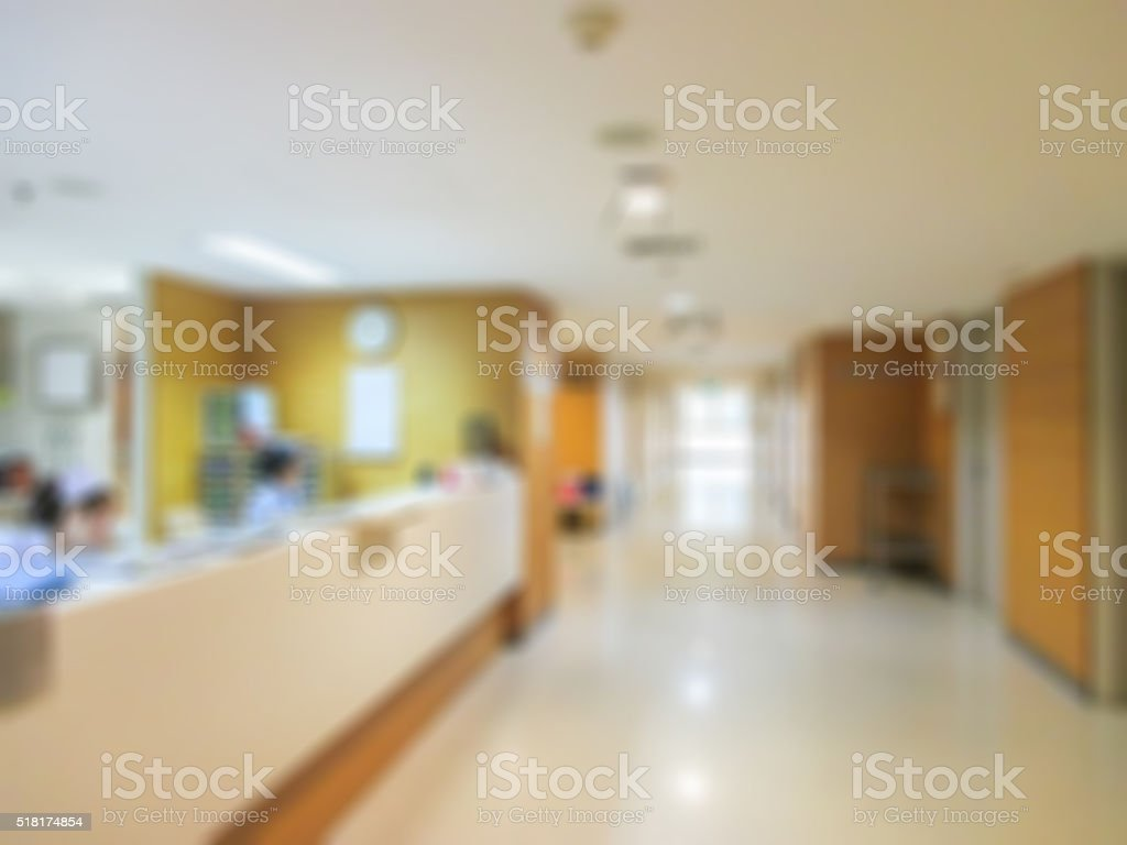nurse in hospital  blur image. stock photo
