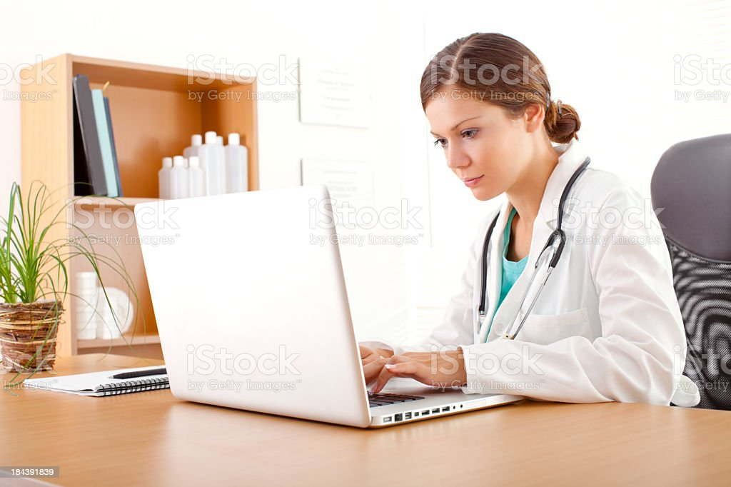 Nurse in office royalty-free stock photo