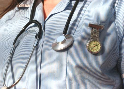 看護師のストライプ - 1人のストックフォトや画像を多数ご用意