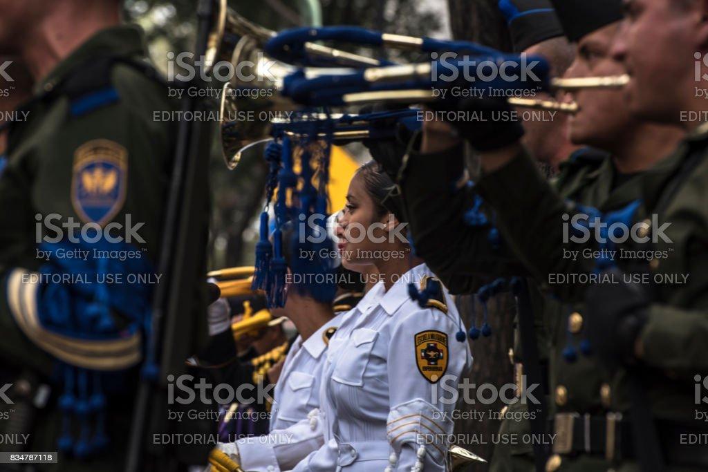 Nurse on Military Parade stock photo